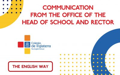 Communication from the office of the Head of School and Rector